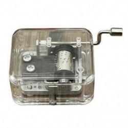 2X (Mini Music Box Music Box hordószervező hajtókar kézikerekes DIY 1 Melodie F6Q9