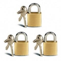 3x kis sárgaréz lakatok, mini sárgaréz apró dobozzárak, kulcsos ékszerek, 6 kulcs, 20mm P7F5