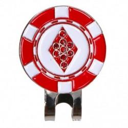 2X (mágneses kupakkal levehető fém négyzet alakú Golf klipek. Ez érdekes si L4K3