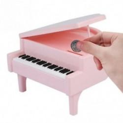 1X (Piano-stílusú érmebank érmék takarékos pénzdobozban üvegedénybe születésnapi ajándék gyermekA8H5)