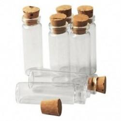 4X (20 darabos 11X32Mm apró mini üres átlátszó parafa üveg palackok, 2 ml Y8B8 üveg)