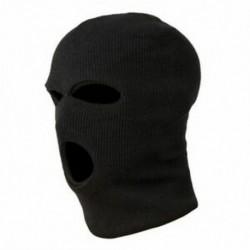 3X (3 lyukú rendőrségi maszk / motorháztető színű fekete rendőrség - SWAT - Gign - Raid - Spe G4A9