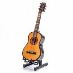 Fa mini díszek Gitár Hangszer Miniatűr Dollhouse modell H R2M6