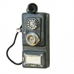 Falra szerelt szüreti telefon-nosztalgikus kézműves Vintage régimódi fal Y0G0