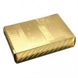 3X (arany fólia póker euró stílusú műanyag póker játékkártyák vízálló kártyákM7L4