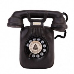 1X (Vintage telefonmodell falra fonott, retro nosztalgikus kézműves otthoni telefon MF4R7)