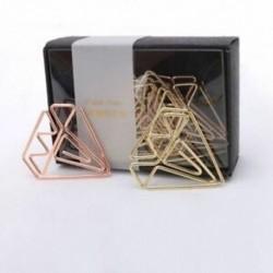 8X (Új érkezési könyvjelző gyémánt klip rózsa arany klip arany tűzőkapocsok levélpapír P5C3