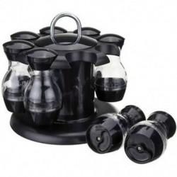Só- és borsrázók 8 üvegből, 360 ° -on forgó tartóval - Só és P3V2