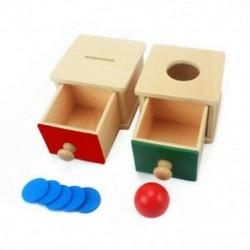 Piros   zöld - Csecsemők és kisgyermekek játék baba fa érmedobozban malacka bank tanulási oktatási X3L7