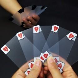5X (kreatív átlátszó műanyag vízálló póker újdonság póker index Playin M0U0