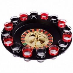2X (Újszerű kreatív ital lemezjátszó játékok orosz rulettkerék 16 borospohár I1U2