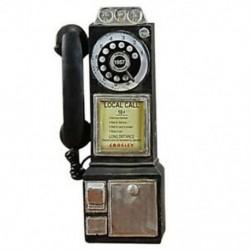 Lakberendezés Vintage telefon modell falikar kézműves díszek Retro Home A6Q9