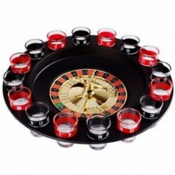 4X (Újszerű kreatív italos lemezjátszó játékok, Orosz rulettkerék 16 borospohár T7X9