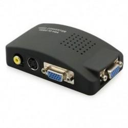 RCA kompozit AV-S-Video VGA átalakító doboz CCTV DVR PC laptop a TV Proj U2L3-hoz
