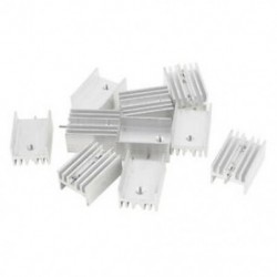 1X (10 x fekete 21x15x10mm alumínium hűtőtest TO-220 tranzisztorokhoz V4V2)
