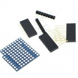 1X (Protoboard pajzs Wemos D1 Mini kétoldalas Perf Board kompatibilis F7D4-hez)