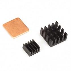 Fekete hűtőborda málna Pi 3, Pi 2, Pi modellhez B   (3 hűtőborda készlet) I9V3