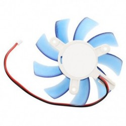 1X (75 mm-es 12 VDC kék műanyag VGA videokártya hűtőventilátor hűtő a C5J3 számítógéphez)