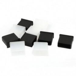 10 db-os műanyag USB A férfi porvédő dugó dugókupak fedele fekete átlátszó K6T1 O4X8