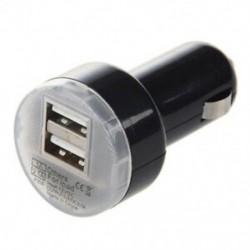 1X (fekete dupla USB autós töltő hálózati adapter Apple iPad 2 P1Z9-hez)