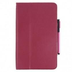 PU bőr fólia tok Samsung Galaxy Tab3 7 &quot P3200 T210 Rózsavörös L6I4