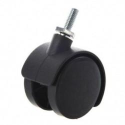 1X (6 mm-es menetes szár, 40 mm-es ikerkerékkel forgatható görgő fekete X7U6)