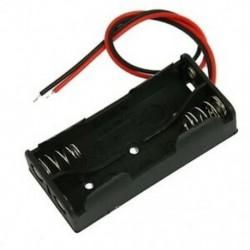 1X (fekete műanyag elemtartó huzal, 2 x 1,5 V AAA J1M6)