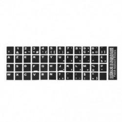 1X (Fehér betűkkel francia Azerty billentyűzet matrica borító fekete a J7F8 laptophoz)