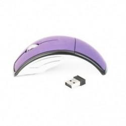 1X (2,4 GHz-es vezeték nélküli laptop összecsukható összecsukható íves optikai egér USB egér Purpl O4M3