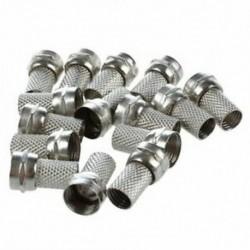 1X (15 db RG6 F-típusú csavarozható koaxiális koaxiális kábel RF csatlakozó aljzat CCT Q8A2-hez