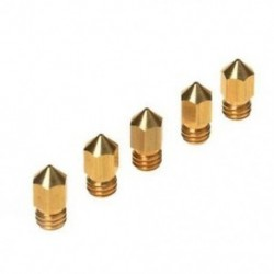 1X (5PCS 3D nyomtató, 0,4 mm-es extruderes sárgaréz fúvóka nyomtatófej MK8 1,75 mm AB R8N4