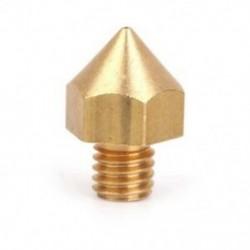 0,4 mm-es réz fúvókafej, 3 mm-es izzószálú 3D nyomtató extruderhez, Golden T4H5