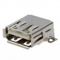4 x USB 2.0 A PCB SMT számítógép-aljzat-aljzat-csatlakozó ezüst Y6E7