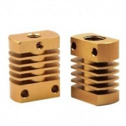 fém hűtőborda hűtőblokk az Mk10 extruder (arany) I7G4 3D nyomtatóhoz