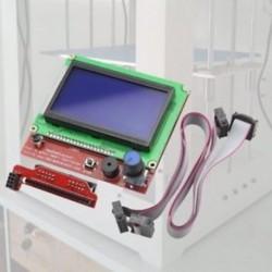12864 LCD rámpák Intelligens alkatrészek RAMPS 1.4 Vezérlőpult Vezérlőpult 3D M8F0 nyomtatáshoz