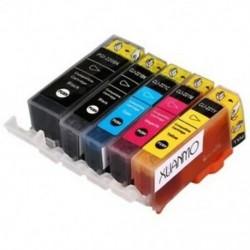 2X (Xuanmo 5 db-os tintapatron Pgi-525Bk Cli-526Bk-hoz Mg5250 Mg6150 CMY Pr S6W9
