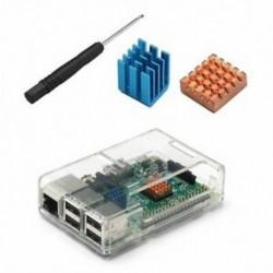 2X (Átlátszó tok a Málna Pi 2 B modellhez Málna Pi 3 B modell B3K8)