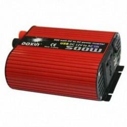 2X (DOXIN Power Inverter 500 W DC 12 V-os és 110 V-os váltóátalakító 4.2A kettős USB O6G7-vel)