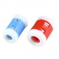 2 nagy piros műanyag kötött kötőtű sorszámláló  2 kis kék műanyag I9K7
