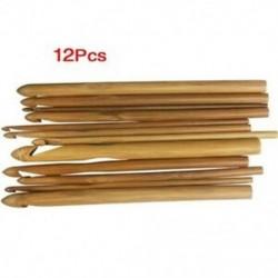 1X (12 méretű horgolt horog 3.0 10mm bambusz kötőtű F8U3)