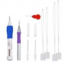 Hímzés varráshoz lyukasztótűkészlet Hímző toll műanyag dobozban az E U7J3-hoz