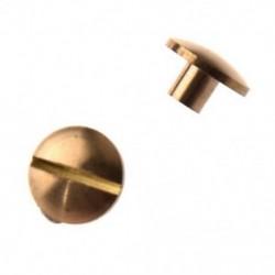 4mm-es - 10db Íves fejű sárgaréz szegecs ruha - táska - karkötő - különböző tárgyak díszítéséhez - TG