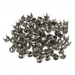 1X (100 db piramis szegecsek gótikus punk szegecsek ezüst M4S1)