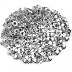 1X (100db DIY üreges köröm kalapszegecs 6 mm ezüst T2R3)