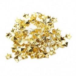 1X (100x arany, 8 mm-es piramiscsavarokkal ellátott tüskék, körömfejű tüskék táskacipőhöz Br K1T3