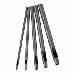 1X (0,5–4,5 mm ezüst, kerek hajtású bőr lyukasztó és kerek bőr kézműves lyukasztó Q6R0