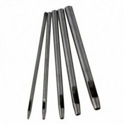 0,5-4,5 mm-es ezüst kerek meghajtású bőr lyukasztó és kerek bőr kézműves lyukasztó E7Y1-hez