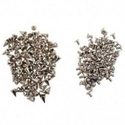 1X (100db / készlet 9,5 mm-es ezüst kúpos tüske csavarhúzók DIY kézműves hűvös szegecs S4A1