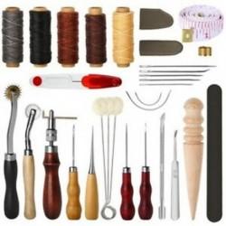 31 db bőrvarró szerszámok Diy bőr kézműves szerszámok W5W1 kézi varráshoz