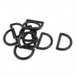 1 &quot javító alkatrészek Fekete műanyag D gyűrűs csat hátizsák táska 10 db Q2D4 W6I2